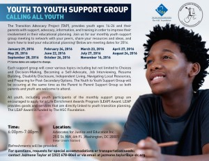 Youth to Youth Support Group Flyer 2016